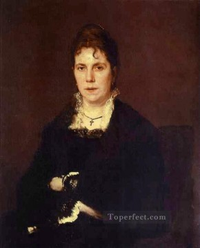 Artists Oil Painting - Portrait of Sophia Kramskaya the Artists Wife Democratic Ivan Kramskoi