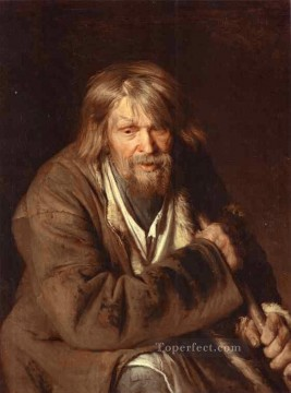Ivan Art - Portrait of an Old Peasant Democratic Ivan Kramskoi