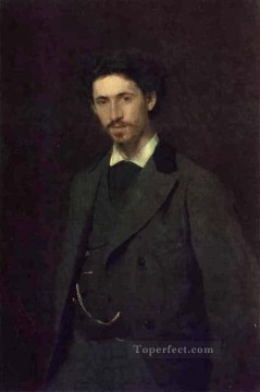 Repin Art Painting - Portrait of the Artist Ilya Repin Democratic Ivan Kramskoi