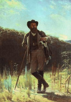Ivan Art - Portrait of the Artist Ivan Shishkin Democratic Ivan Kramskoi