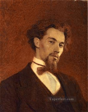 Ivan Art - Portrait of the Artist Konstantin Savitsky Democratic Ivan Kramskoi