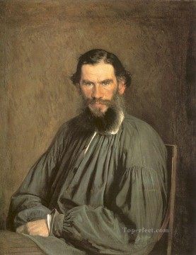 Ivan Art - Portrait of the Writer Leo Tolstoy Democratic Ivan Kramskoi