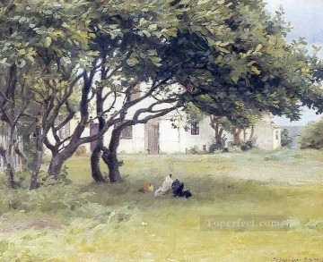Casa de los artistas landscape Peder Severin Kroyer Oil Paintings