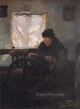 KR Works - Anciana en la rueca 1887 Peder Severin Kroyer