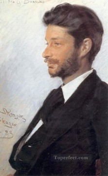 KR Works - Georg Brandes 1883 Peder Severin Kroyer