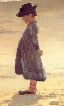 Peder Severin Kroyer Painting - Nina en la playa 1884 Peder Severin Kroyer