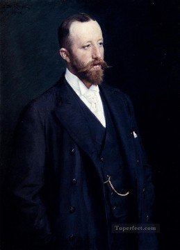 Peder Severin Kroyer Painting - Portrait Of A Gentleman Peder Severin Kroyer