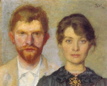 KR Works - Retrato del matrimonio 1890 Peder Severin Kroyer