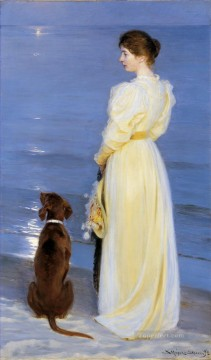 Tarde de verano en Skagen 1892 Peder Severin Kroyer Oil Paintings