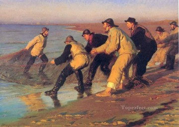 KR Works - Pescadores en la playa 1883 Peder Severin Kroyer