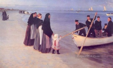 Pescadores en Skagen 1894 Peder Severin Kroyer Oil Paintings