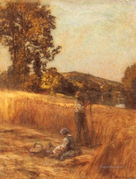 autumn or the grape harvest Painting - The Harvesters rural scenes peasant Leon Augustin Lhermitte