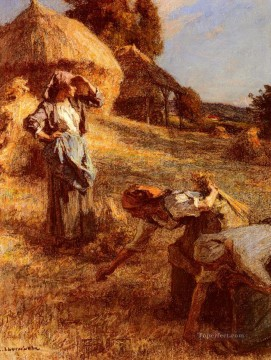 Make Art - Haymakers 2 rural scenes peasant Leon Augustin Lhermitte