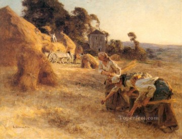 Make Art - Haymakers rural scenes peasant Leon Augustin Lhermitte