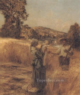 Leon Augustin Lhermitte Painting - The Reapers Child rural scenes peasant Leon Augustin Lhermitte
