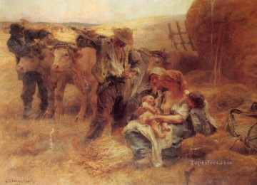 1908 Works - French 1844to 1925La Famille SnD 1908 rural scenes peasant Leon Augustin Lhermitte