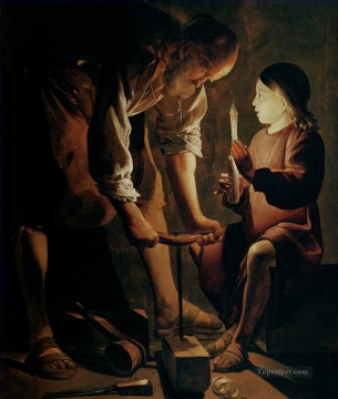 Georges de La Tour Painting - Christ in the Carpenters Shop candlelight Georges de La Tour