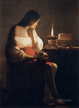 Georges de La Tour Painting - Magdalen of Night Light candlelight Georges de La Tour