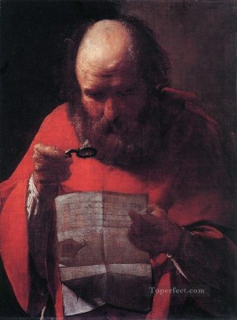 Georges de La Tour Painting - Saint Jerome Reading candlelight Georges de La Tour