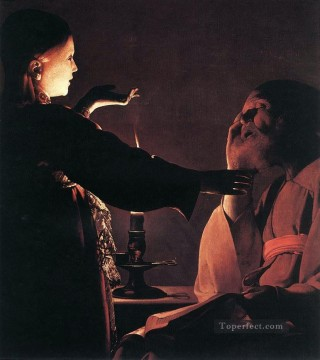 Georges de La Tour Painting - The Dream of St Joseph candlelight Georges de La Tour
