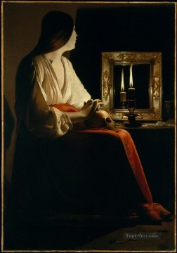 Georges de La Tour Painting - The Penitent Magdalen candlelight Georges de La Tour