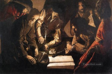 Georges de La Tour Painting - The Payment of Dues candlelight Georges de La Tour