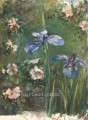 Wild Roses And Irises flower John LaFarge