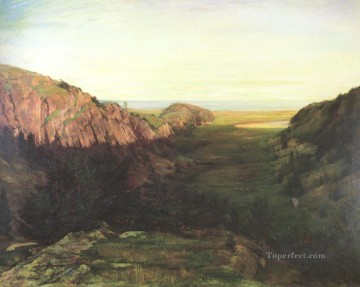Valley Painting - The Last Valley landscape John LaFarge