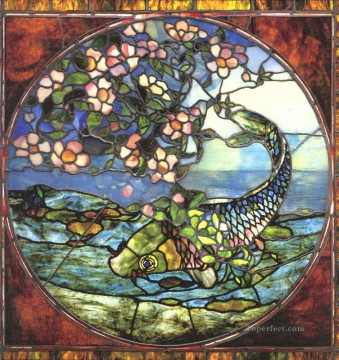 John LaFarge Painting - Fish and Flowering Branch John LaFarge
