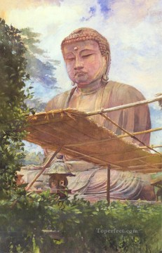 John LaFarge Painting - The Great Statue of Amida Buddha at Kamakura John LaFarge