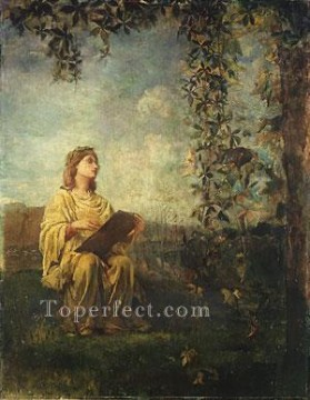 painting Oil Painting - The Muse Of Painting John LaFarge
