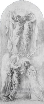 John LaFarge Painting - Angel Sealing The Servants Of God John LaFarge