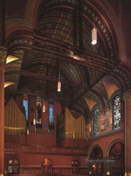 John LaFarge Painting - Trinity Church Boston John LaFarge