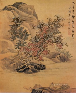 Lan Ying Painting - landscape after li tang old China ink