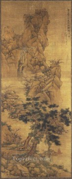 Lan Ying Painting - landscape 1653 old China ink