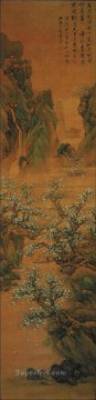 Lan Ying Painting - peach forest old China ink