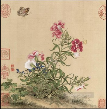 butterfly Painting - Lang shining butterfly in f old China ink Giuseppe Castiglione