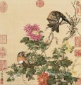 Lang shining birds 1 old China ink Giuseppe Castiglione