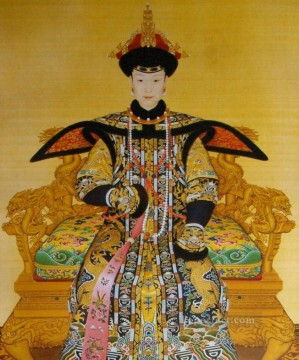 Empress Xiao Xian Fucha Lang shining old China ink Giuseppe Castiglione Oil Paintings