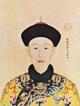 china - The young Qianlong Emperor Lang shining old China ink Giuseppe Castiglione
