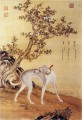 Cangshuiqiu a Chinese greyhound from Ten Prized Dogs Album Lang shining Giuseppe Castiglione old China ink