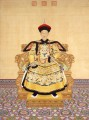 The Qianlong Emperor in court dress Lang shining old China ink Giuseppe Castiglione