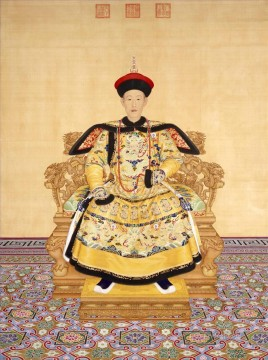 lion - The Qianlong Emperor in court dress Lang shining old China ink Giuseppe Castiglione