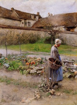 Carl Art Painting - October aka The Pumpkins Carl Larsson
