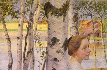 Swedish 1853to 1919 Lisbeth At The Birch SnD 1910 Carl Larsson Decor Art