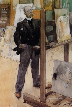 Carl Art Painting - Self Portrait Carl Larsson