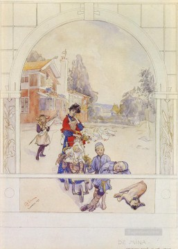 Sun Oil Painting - Swedish 1853to 1919 My Loved nes SnD SUNDBORN 1893water Carl Larsson