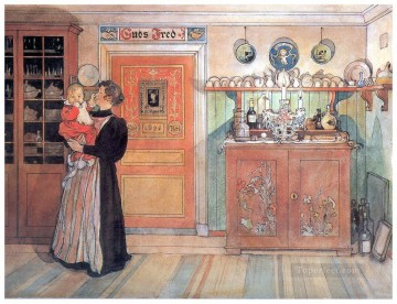 1896 Oil Painting - between christmas and new a o 1896 Carl Larsson
