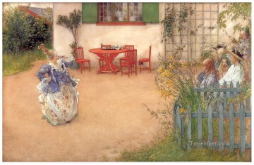 1900 Works - lisbeth in blue bird 1900 Carl Larsson