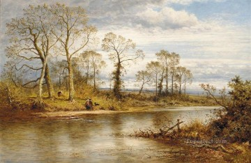 Leader Works - An English River in Autumn Benjamin Williams Leader